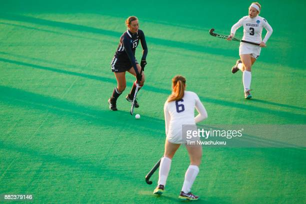 Nicole Wilkerson of Messiah College dribbles the ball during the Division III Women's Field Hockey Championship held at Trager Stadium on November 19...