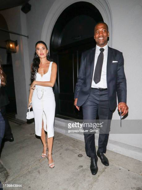 Nicole Williams and Alex English are seen on April 27 2019 in Los Angeles California