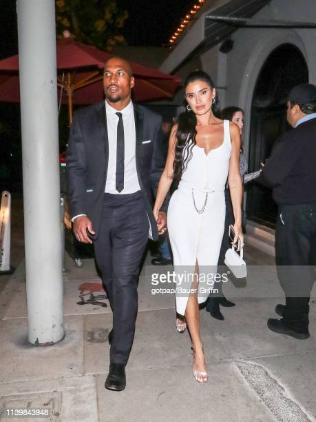 Nicole Williams and Larry English are seen on April 27 2019 in Los Angeles California