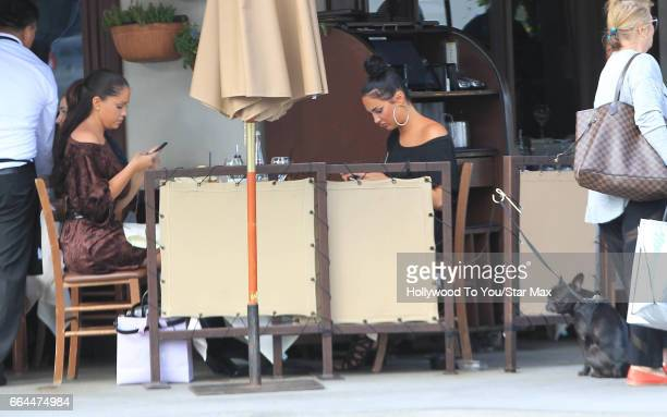 Nicole Williams and Olivia Pierson are seen on April 3 2017 in Los Angeles CA