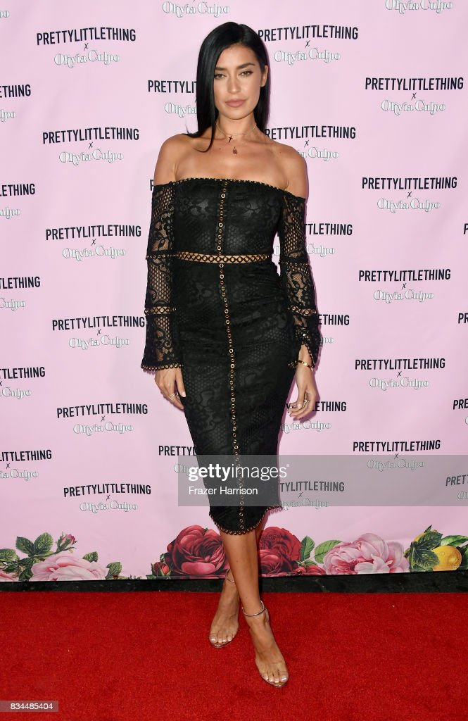Nicole Williams attends PrettyLittleThing X Olivia Culpo Launch at Liaison Lounge on August 17, 2017 in Los Angeles, California.