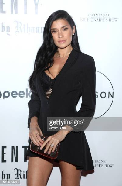 Nicole Williams attends the launch of FENTY PUMA by Rihanna A/W 2017 collection at Madison Beverly Hills on September 27 2017 in Beverly Hills...