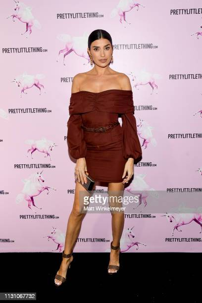 Nicole Williams attends the PrettyLittleThing LA Office Opening Party on February 20 2019 in Los Angeles California