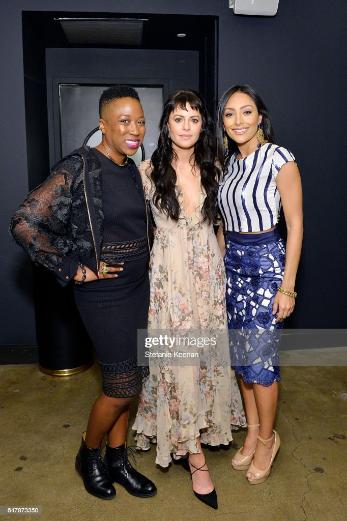 Nicole Williams; Sophia Amoruso and Nicole Chacon attended the Girlboss + American Express Platinum Collective Dinner on March 3, 2017 in Los Angeles, California.