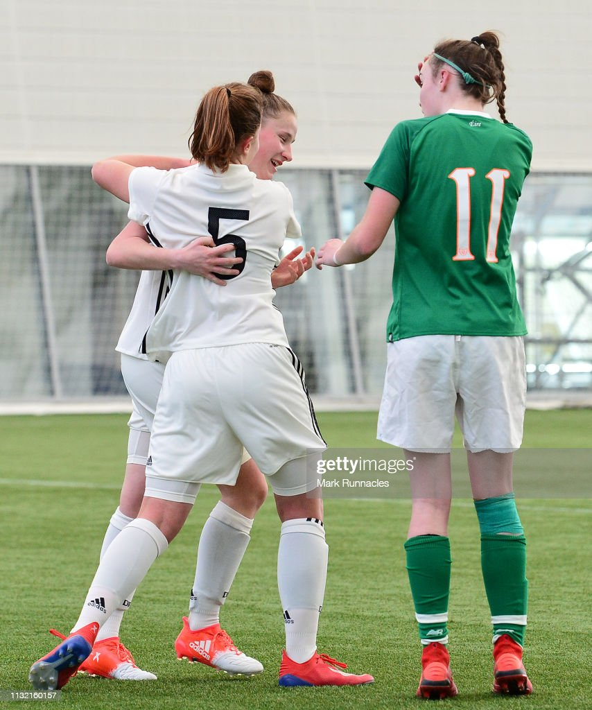 GBR: Ireland U17 Girl's v Germany U17 Girl's - UEFA Elite Round