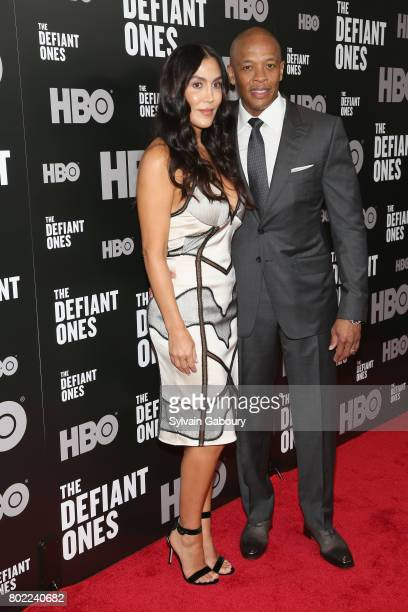 Nicole Young and Dr Dre attend 'The Defiant Ones' New York premiere on June 27 2017 in New York City