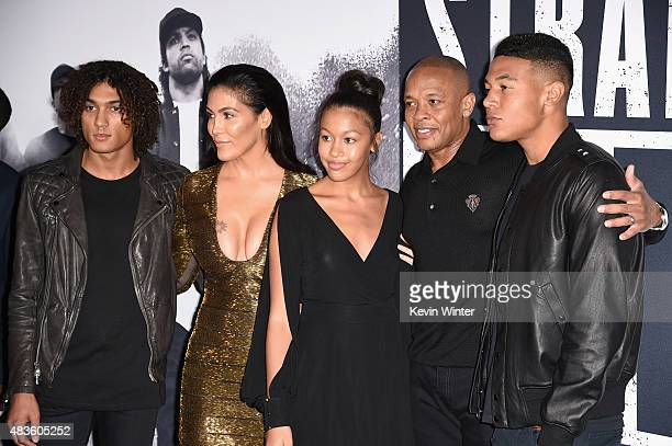 Nicole Young and record producer Dr Dre attend the Universal Pictures and Legendary Pictures' premiere of Straight Outta Compton at Microsoft Theater...