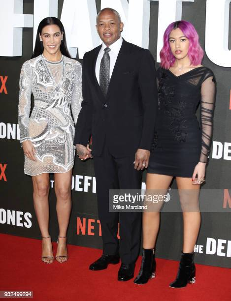 Nicole Young Dr Dre and Truly Young attend 'The Defiant Ones' special screening on March 15 2018 in London United Kingdom