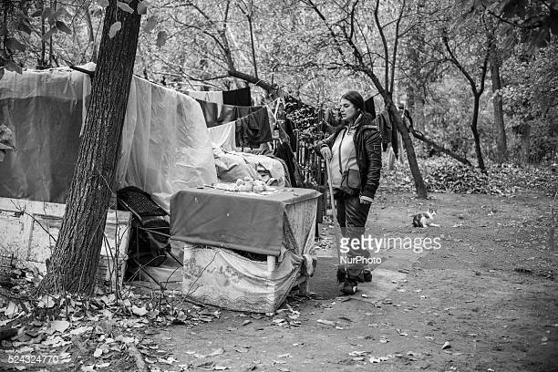 Nicoletta 32 and pregnant with her third child lives with her boyfriend in an encampment near the city's train station Although her first two...