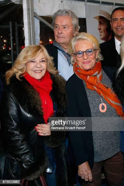 Nicoletta Alain Delon and Veronique de Villele attend 'La Grande Roue de Paris' Opening Ceremony at Place de la Condorde on the Champs Elysees on...