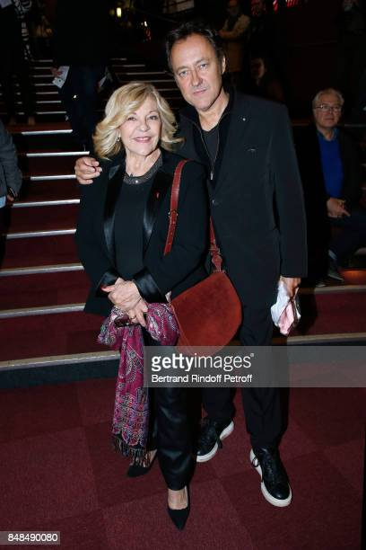 Nicoletta and her husband Jean Christophe Molinier attend Sylvie Vartan Performs at L'Olympia on September 16 2017 in Paris France