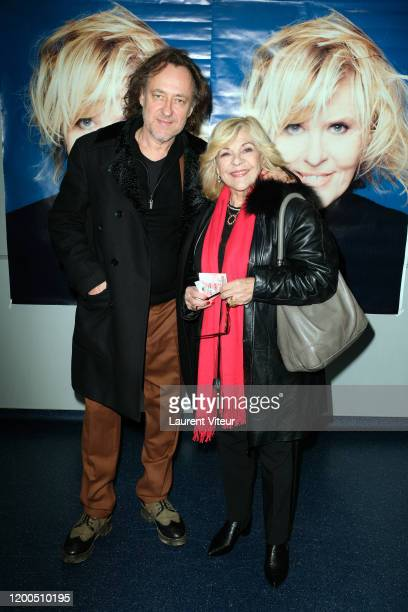 Nicoletta and her husband JeanChristophe Molinier attend On The Road Again Chantal Ladesous' Show At Palais des SportsDome de Paris on January 18...