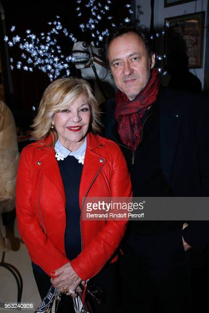 Nicoletta and her husband JeanChristophe Molinier attend the Dinner in honor of Nathalie Baye at La Chope des Puces on April 30 2018 in SaintOuen...