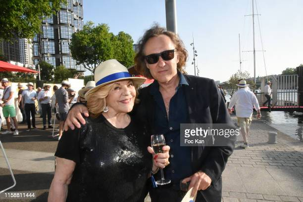 Nicoletta and Jean Christophe Molinier attend Petanque Gastronomique 2019 hosted by Daniel Lauclair at Paris Yacht Marina on June 27 2019 in Paris...