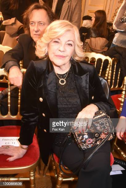 Nicoletta and Jean Christophe Molinier attend the Farhad Re Haute Couture Spring/Summer 2020 show as part of Paris Fashion Week on January 20 2020 in...