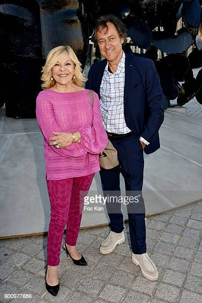 Nicoletta and Jean Christophe Molinier attend the Manolo Valdes Exhibition Preview at Place Vendome on September 8 2016 in Paris France