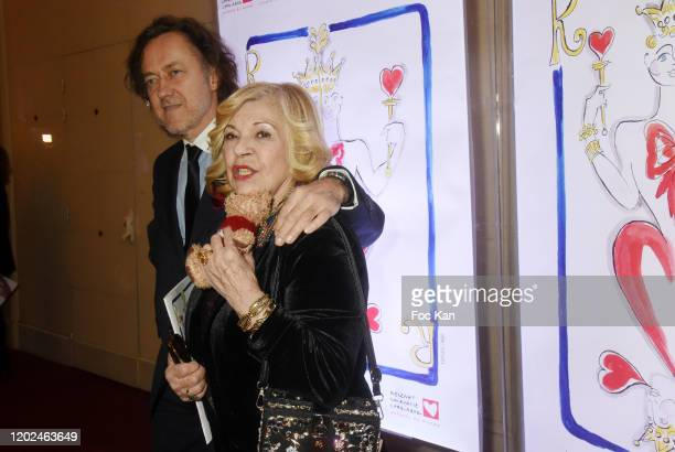 Nicoletta and Jean Christophe Molinier attend the Soiree du Cœur Auction Concert Hosted by Mécenat Chirurgie Cardiaque at Salle Gaveau on January 27...