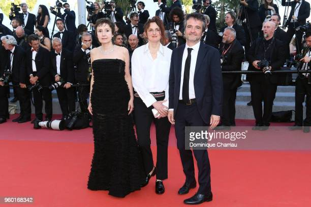 Nicoletta Braschi Alice Rohrwacher and Carlo CrestoDina attend the screening of Closing Ceremony The Man Who Killed Don Quixote during the 71st...