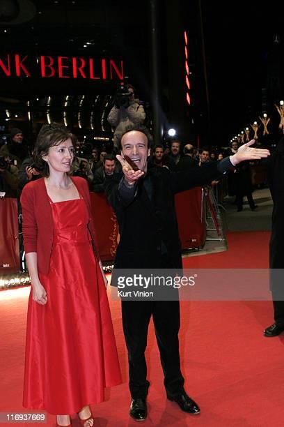 Nicoletta Braschi and Roberto Benigni, Director and Actor