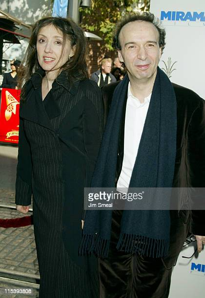 Nicoletta Braschi and Roberto Benigni during Pinocchio Los Angeles Premiere at Pacific's The Grove in Los Angeles California United States