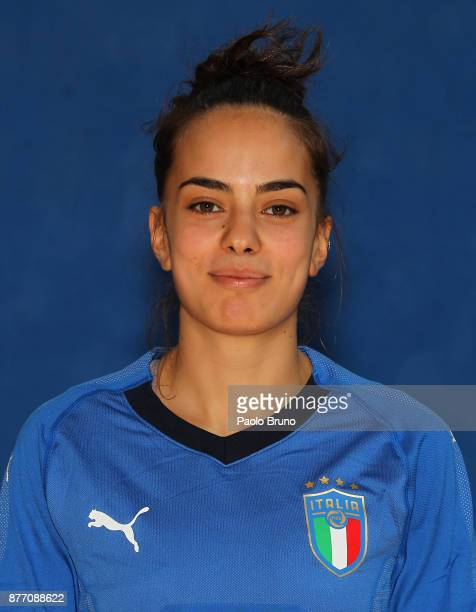 Nicoletta Mansueto of Italy poses during the Italy futsal women portrait session on November 21 2017 in Rome Italy