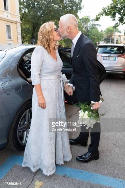 Nicoletta Mantovani And Alberto Tinarelli attend Nicoletta Mantovani And Alberto Tinarelli Wedding at Sant Antonio da Padova Basilic on September 20,...