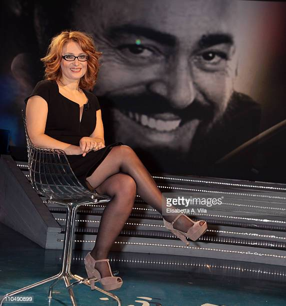 Nicoletta Mantovani attends Alle Falde Del Kilimangiaro TV show at the RAI Studios on March 20 2011 in Rome Italy