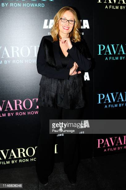 "Nicoletta Mantovani attends Special Red Carpet Screening Of Ron Howard's Documentary ""Pavarotti"" at iPic Theater on May 28, 2019 in New York."