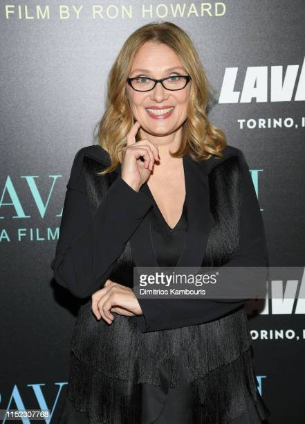 "Nicoletta Mantovani attends the ""Pavarotti"" New York Screening at iPic Theater on May 28, 2019 in New York City."