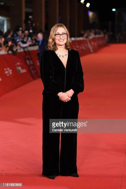 "Nicoletta Mantovani attends the ""Pavarotti"" red carpet during the 14th Rome Film Festival on October 18, 2019 in Rome, Italy."