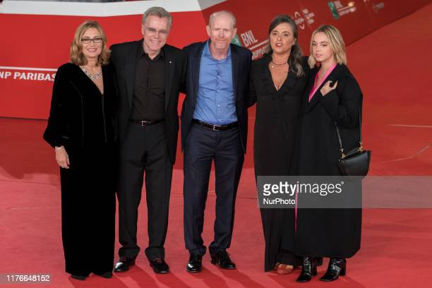 "Nicoletta Mantovani, Nigel Sinclair, Ron Howard, Giuliana Pavarotti and Caterina Lo Sasso attend the ""Pavarotti"" red carpet during the 14th..."