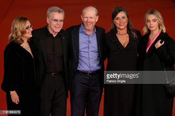 Nicoletta Mantovani Nigel Sinclair Ron Howard Giuliana Pavarotti and Caterina Lo Sassoi attend the Pavarotti red carpet during the 14th Rome Film...