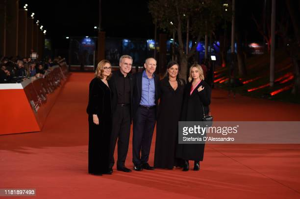 Nicoletta Mantovani Nigel Sinclair Ron Howard Giuliana Pavarotti and Caterina Lo Sasso attend the Pavarotti red carpet during the 14th Rome Film...