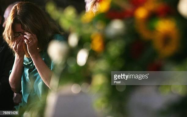 Nicoletta Mantovani Pavarotti attends Luciano Pavarotti's funeral in Modena's Duomo on September 8 2007 in Modena Italy Pavarotti died of pancreatic...