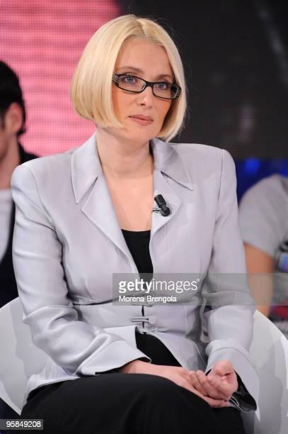 "Nicoletta Mantovani ""Scalo 76"" italian tv show on April 02, 2009 in Milan, Italy."