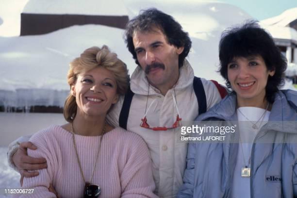 Nicoletta Michel et Stéphanie Fugain au Festival d'Avoriaz en janvier 1983 France