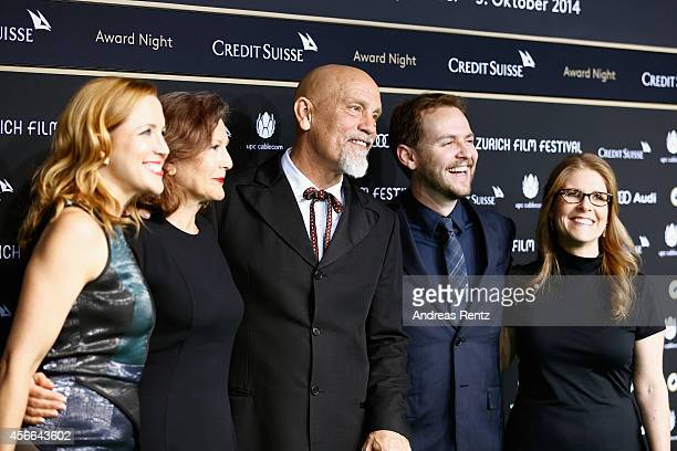 Nicoletta Peyran and John Malkovich attend the Award Night Green Carpet Arrivals during Day 10 of Zurich Film Festival 2014 on October 4 2014 in...