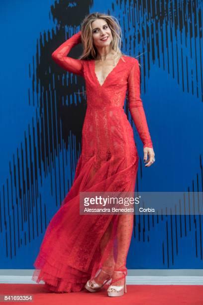 Nicoletta Romanoff attend the The Franca Sozzani Award during the 74th Venice Film Festival at Sala Giardino on September 1 2017 in Venice Italy
