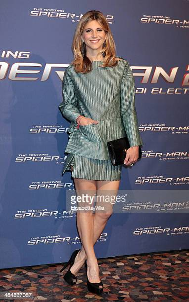 Nicoletta Romanoff attends 'The Amazing Spider-Man 2: Rise Of Electro' Rome Premiere at The Space Moderno Cinema on April 14, 2014 in Rome, Italy.