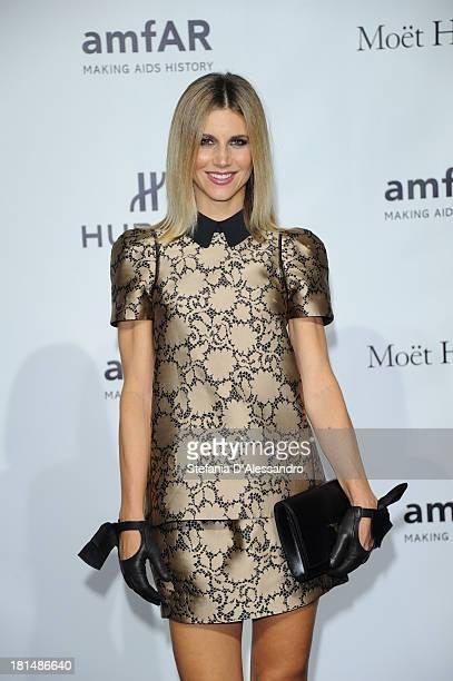 Nicoletta Romanoff attends the amfAR Milano 2013 Gala as part of Milan Fashion Week Womenswear Spring/Summer 2014 at La Permanente on September 21...