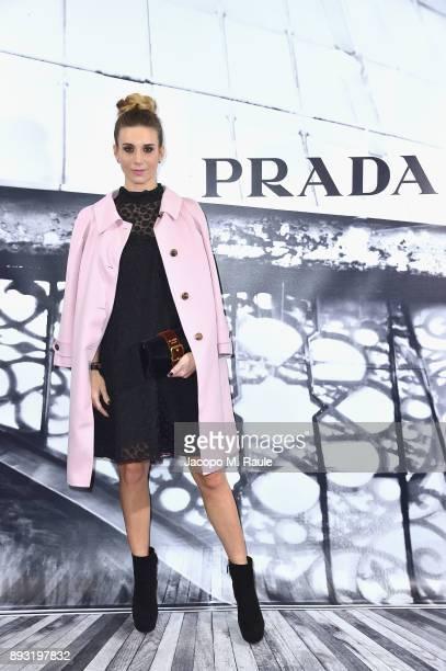 Nicoletta Romanoff attends the cocktail reception to present Prada Resort 2018 collection on December 14th 2017 in Prada's Via dei Condotti stores...