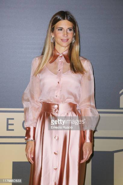 Nicoletta Romanoff attends the golden carpet for the Academy of Motion Picture Arts and Sciences event at Palazzo Barberini on October 08 2019 in...