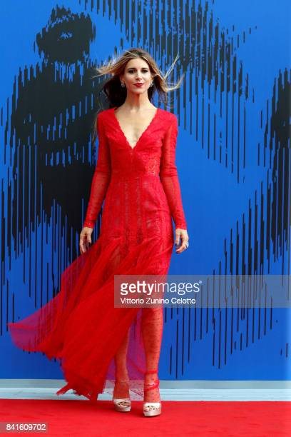 Nicoletta Romanoff attends the The 1st Franca Sozzani Award during the 74th Venice Film Festival at Sala Giardino on September 1 2017 in Venice Italy