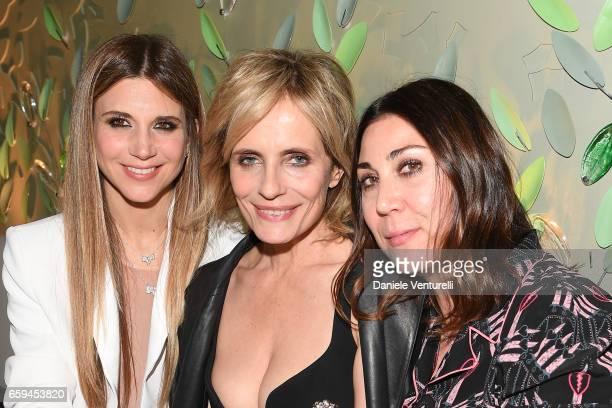 Nicoletta Romanoff, Isabella Ferrari and Eleonora Pratelli attend Grand Opening Party Hotel Eden of Hotel Eden on March 28, 2017 in Rome, Italy.