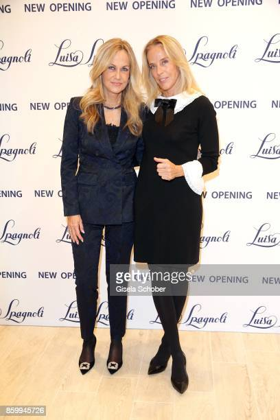 Nicoletta Spagnoli and her sister Carla Spagnoli during the Luisa Spagnoli boutique opening Munich at Preysing Palais on October 10 2017 in Munich...