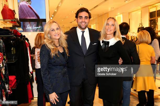 Nicoletta Spagnoli her son Nicola Spangnoli and her sister Carla Spagnoli during the Luisa Spagnoli boutique opening Munich at Preysing Palais on...