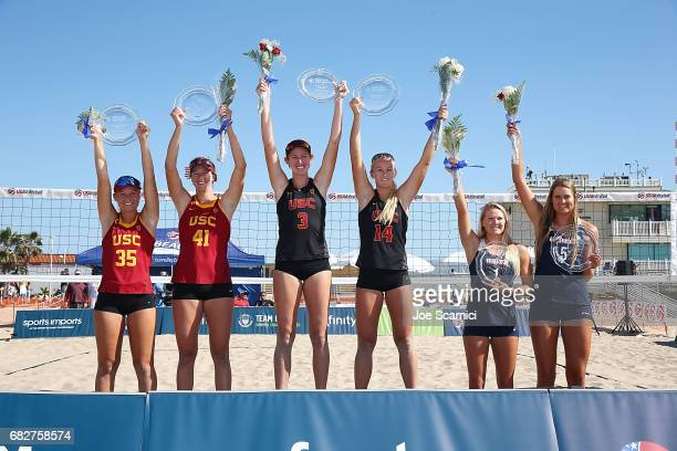 Nicolette Martin of The University of Southern California and Terese Cannon of University of Southern California Kelly Claes of The University of...