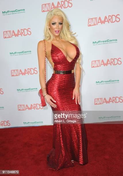Nicolette Shea attends the 2018 Adult Video News Awards held at Hard Rock Hotel Casino on January 27 2018 in Las Vegas Nevada
