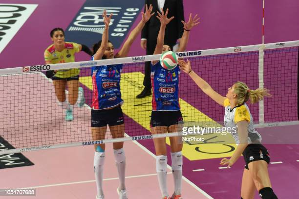 Nicoletti Anna from team BV Millenium Brescia playing during volley match in Pala Igor Novara in Novara Italy