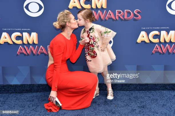 Nicolle Galyon and Charlie Jo Clawson attend the 53rd Academy of Country Music Awards at MGM Grand Garden Arena on April 15 2018 in Las Vegas Nevada